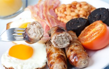Full English Breakfast with Bury Black Pudding